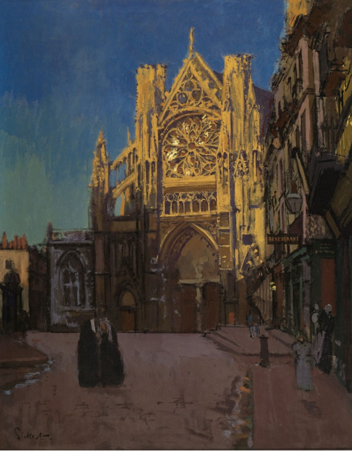 Walter-Sickert,-The-Facade-of-St-Jacques,-Dieppe,-1902